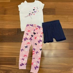 Baby gap 3 piece matching pajamas size 3T
